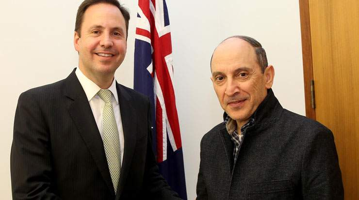 Al Baker and Ciobo discussed how to maximise the new flight's potential
