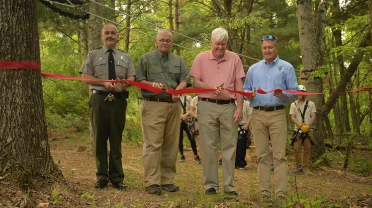 Ribbon-cutting ceremony at Pipestem Resort
