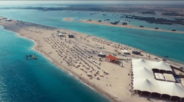 Sir Bani Yas Cruise Beach