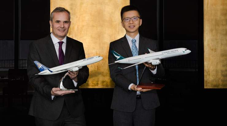 From Left: Ledger and Lam welcomed the airlines' codeshare partnership