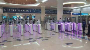 127 smart gates are available across the entire airport