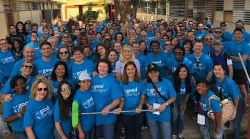 American Airlines' Global Sales Conference included a day of community service events