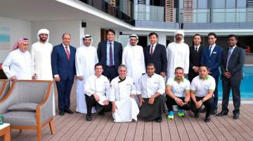 Dignitaries including H.H. Sheikh Humaid bin Rashid Al Nuaimi, ruler, Ajman attended the hotel's inauguration