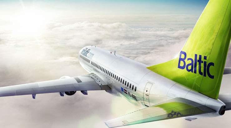 The 15 minute flight punctuality indicator for airBaltic during the first four months of this year reached a level of 90 percent