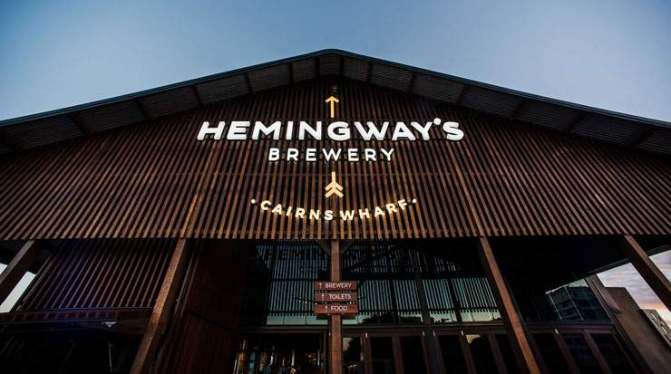 Hemingway's Brewery Cairns Wharf is a heritage listed venue