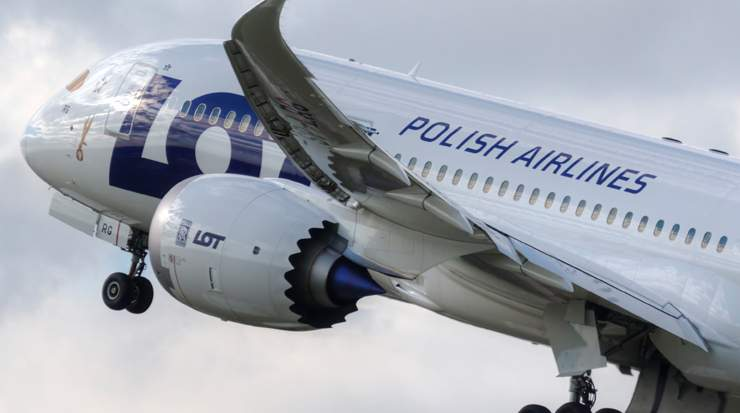 LOT Polish Airlines Landed in Maimi