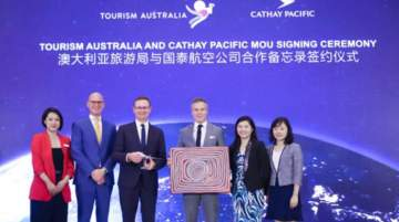 Tourism Australia signed the two deals earlier this month