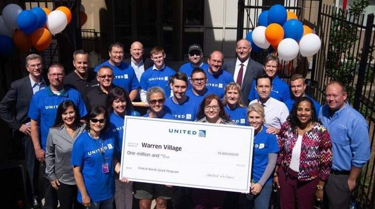 United Airlines Donates USD1 Million to Denver Charity