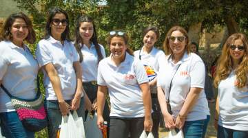 A team of IHG Cairo Citystars team in Arab Sarab, Shabrament