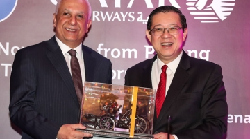 From Left: Amin and H.E. Lim Guan Eng, chief minister, Penang