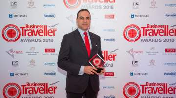 Mohamed Amin, director, sales and marketing, Semiramis InterContinental Cairo, accepted the award on behalf of the property