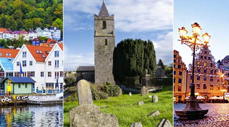 Bergen, Cork and Wroclaw