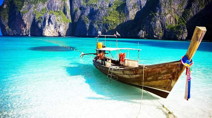 Maya Bay was made famous by Leonardo DiCaprio's movie The Beach