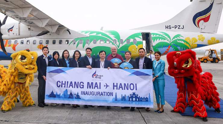 Bangkok Airways reportedly flies the only direct route between Chiang Mai and Hanoi