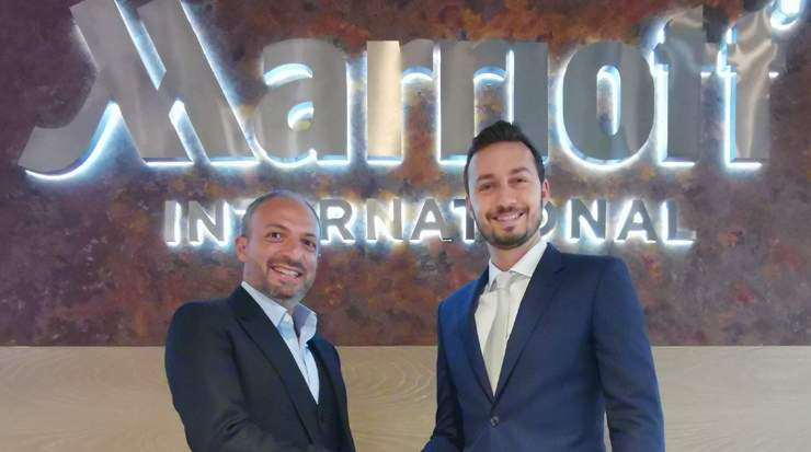 Bani Haddad (left) and Yasin Munshi, director lodging development, MEA, Marriott International