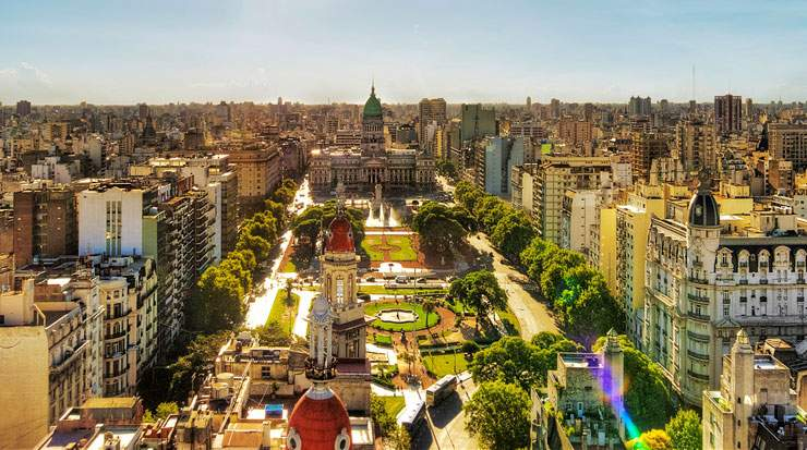 Buenos Aires is South America's second largest city with a population of over 13 million