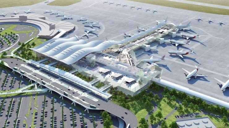 The expanded airport will offer new facilities
