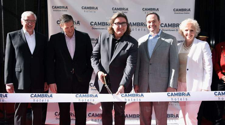 A ribbon-cutting ceremony took place at the celebration along with remarks from executives and city officials
