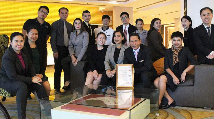 Staff at Dusit Srinakarin Bangkok celebrated the achievement
