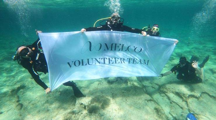 Melco Cyprus Organised Ayia Napa Harbour Seabed Clean-up
