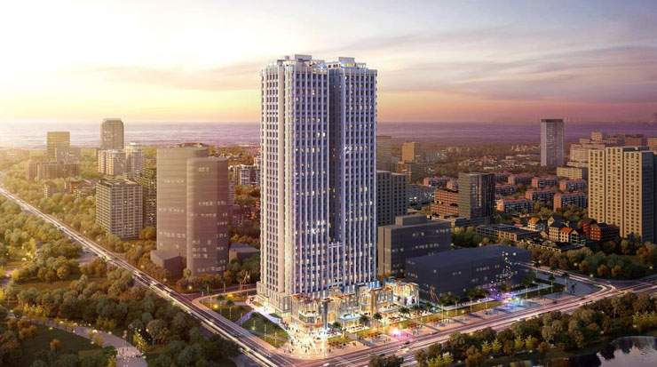 Shama Hub Haikou Hainan will occupy an annex of a commercial complex developed by Guang Yue Jin Tai Group