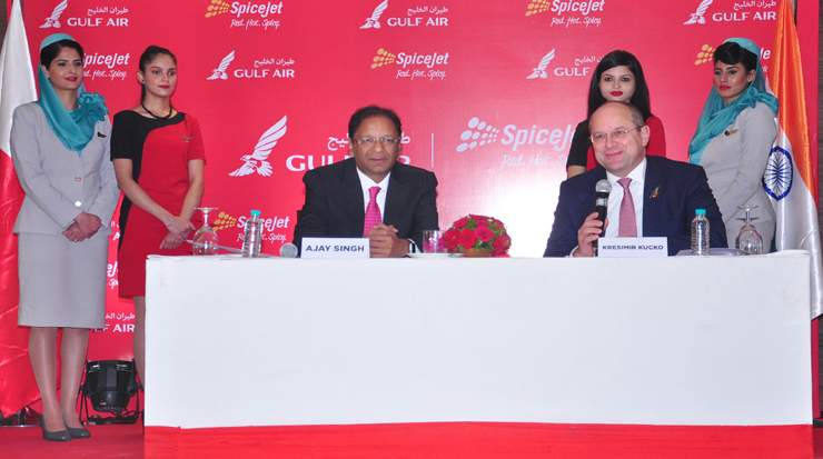 Gulf Air and SpiceJet sign MoU