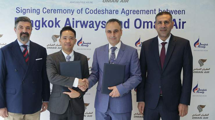 The agreement will provide an enhanced network between Oman and Thailand