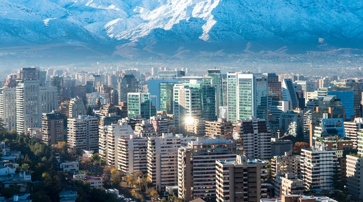 Santiago de Chile is one of the largest cities in the Americas