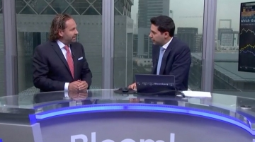 Left: Thomas Flohr, founder, VistaJet on Bloomberg Markets: Middle East