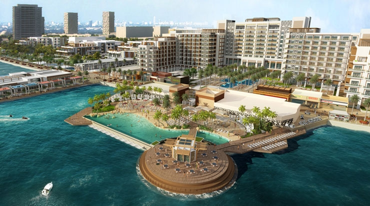 Rendering of Hilton Abu Dhabi Yas Island Resort