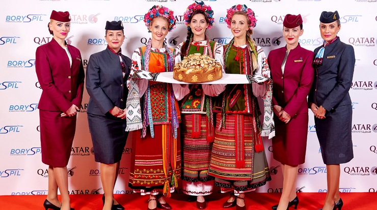 Qatar Airways Celebrated New Link to Kyiv