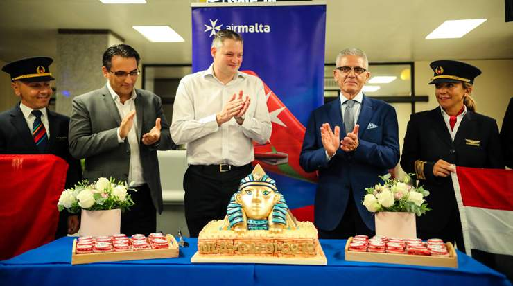 Air Malta inaugurated its Cairo route