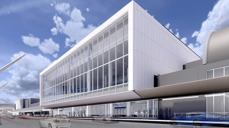 Renderings of the USD1.6 billion modernisation project to fully reimagine LAX Terminals 4 and 5.