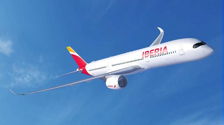 Iberia's new Airbus A350/900 (rendering)