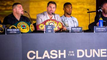 Press conference Andy Ruiz Jr and Anthony Joshua OBE