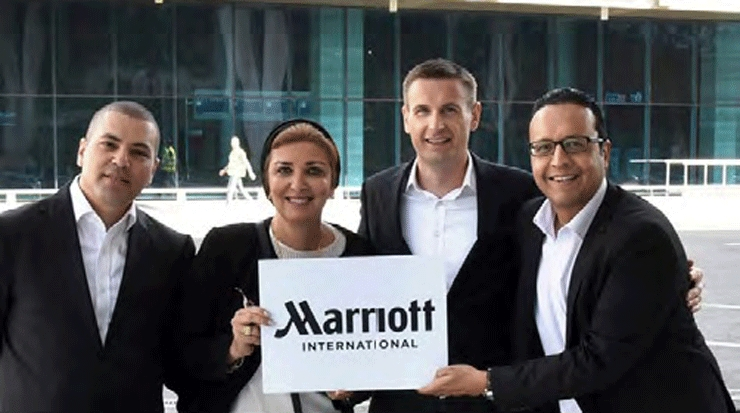 Marriott team at Cairo International Airport