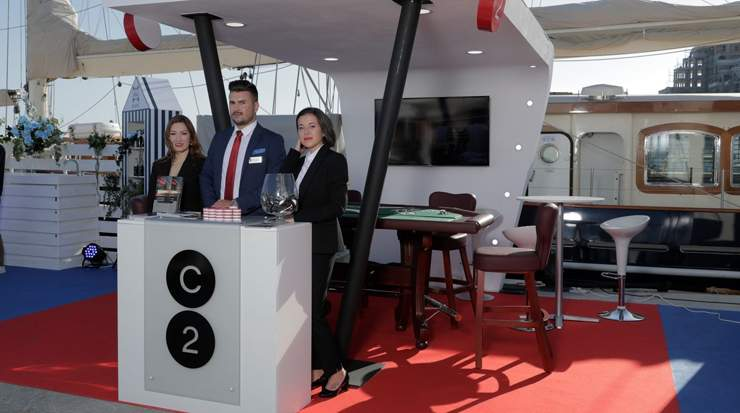 Cyprus Casinos C2 team at the exclusive Superyachts Event