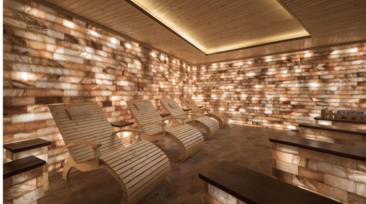 The luxury Himalayan Crystal Salt Chamber at Radisson Blu Resort Cam Ranh Spa