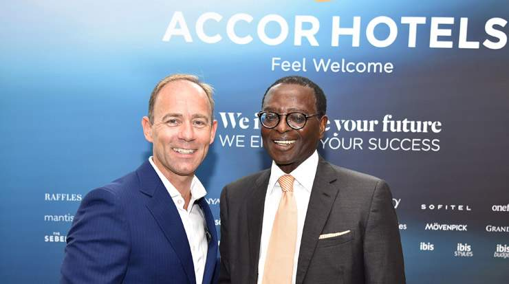 Mark Willis, CEO, Middle East & Africa, AccorHotels with Kwame Nyantekyi-Owusu, chairman, Inter-Afrique Holdings