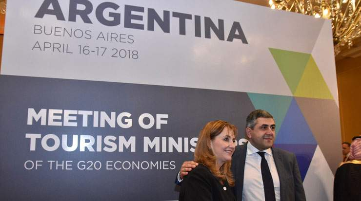 From Left: Gloria Guevara, CEO, World Travel & Tourism Council and Pololikashvili at the meeting