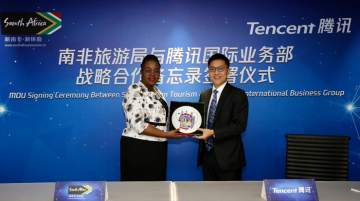Tencent announced collaboration with the SA Tourism Beijing Office