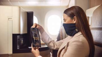 Etihad introduces Microbebarrier face protection
