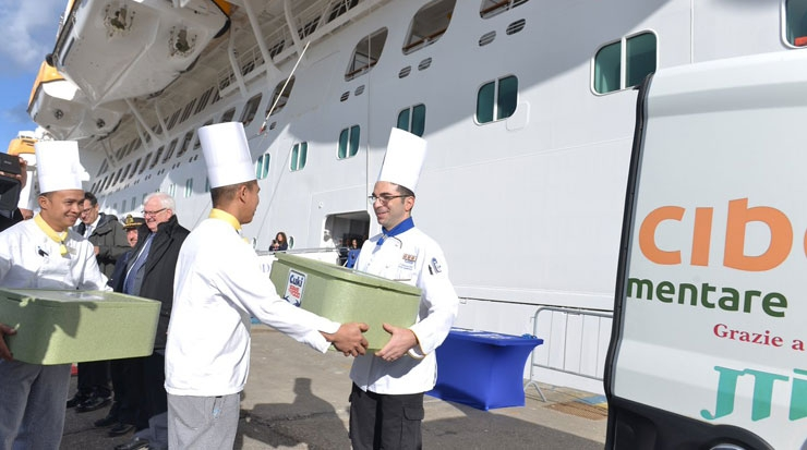 Civitavecchia Joins the Costa Ships Food Donation Programme