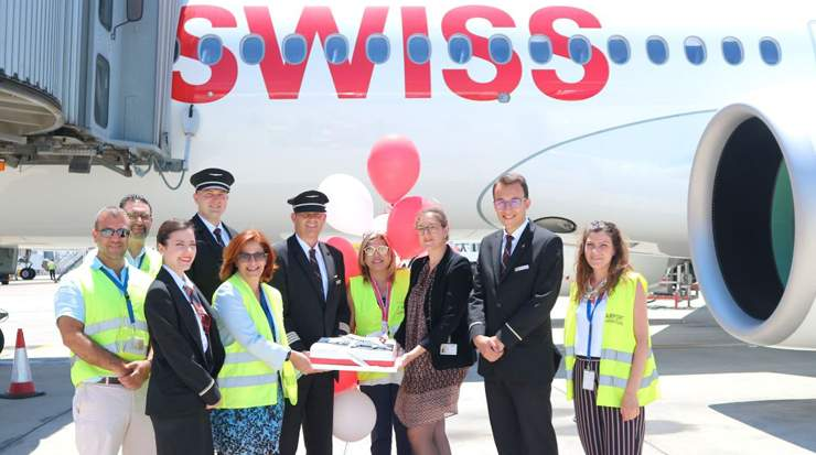 Hermes Airports welcomed the Launch of SWISS flights to Larnaca