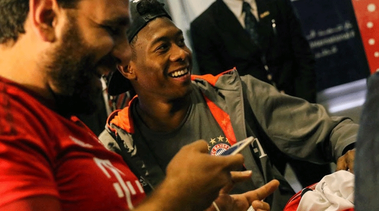One of 50 lucky fans with David Alaba