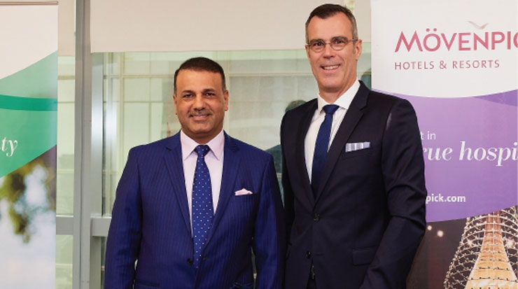 (L-R) Akeel Ibraheem Al-Khalidy, chairman, committee on economic development and investment, Basra Council, and Olivier Chavy, CEO, Mövenpick Hotels & Resorts