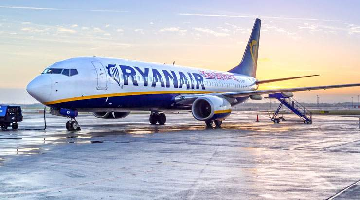 Italy accounts for almost 80 of Ryanair's 400 current aircraft fleet