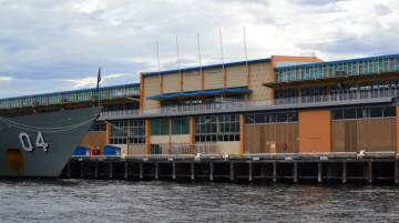 Fremantle Passenger Terminal, although designed for an earlier era, has the berthing to handle very large cruise ships