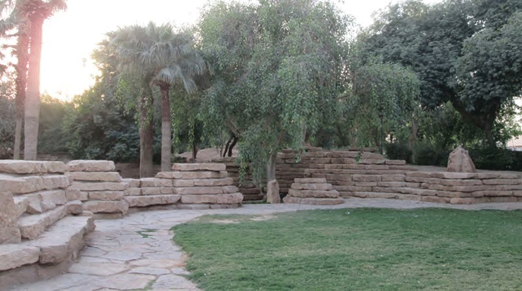 Park of King Abdul Aziz Historical Center in Riyadh