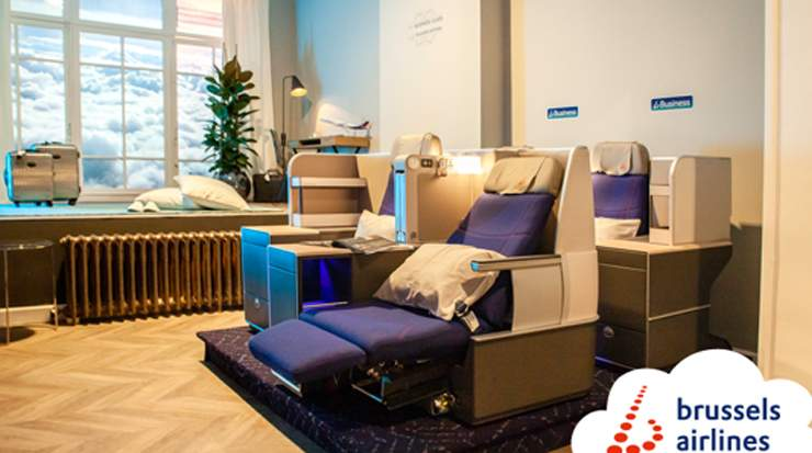 Boutique Hotel in the air by Brussels Airlines